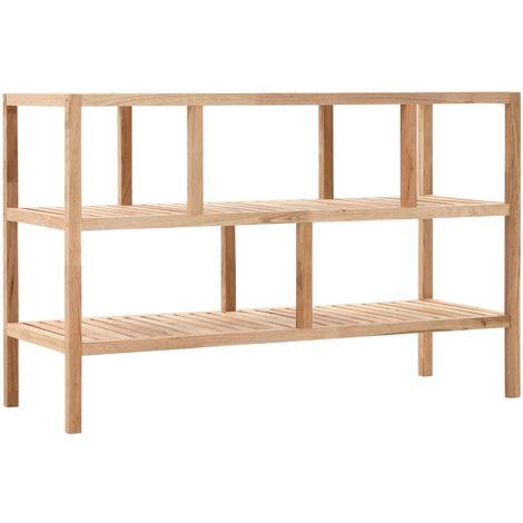 vidaXL Estanteria de cuarto de bano 100x40x65cm madera maciza de nogal(no se puede enviar a Baleares)
