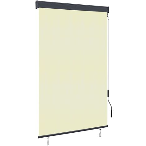 vidaXL Estor enrollable de exterior color crema 120x250 cm - crema