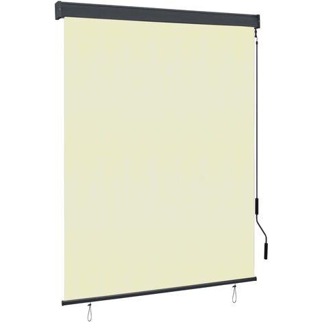 vidaXL Estor enrollable de exterior color crema 140x250 cm - crema