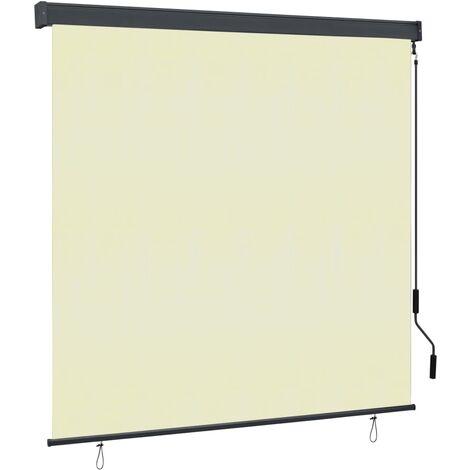 vidaXL Estor enrollable de exterior color crema 160x250 cm - crema