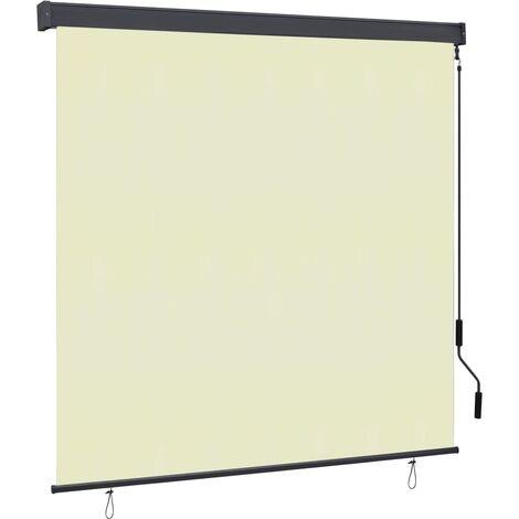 vidaXL Estor enrollable de exterior color crema 170x250 cm - crema