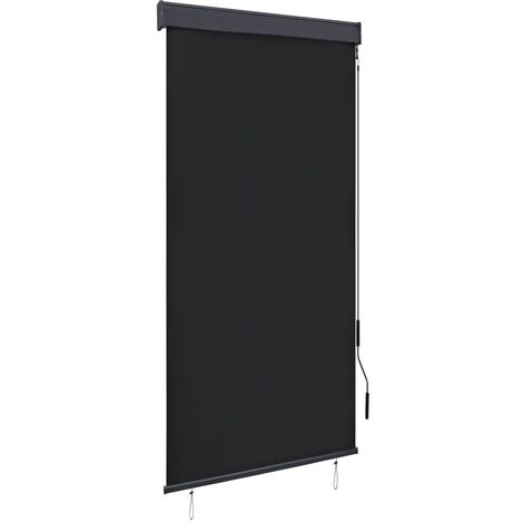 vidaXL Estor enrollable de exterior gris antracita 100x250 cm - Gris