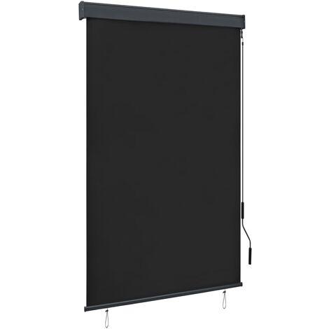 vidaXL Estor enrollable de exterior gris antracita 120x250 cm - Gris