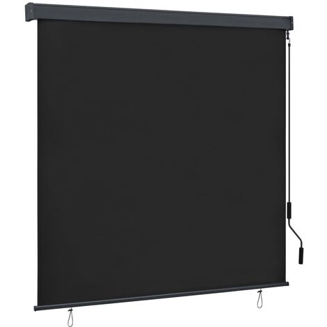 vidaXL Estor enrollable de exterior gris antracita 170x250 cm - Gris