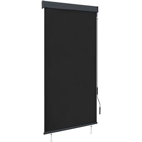 vidaXL Estor enrollable de exterior gris antracita 80x250 cm - Gris