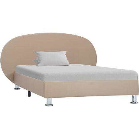 vidaXL Estructura de cama de cuero sintético blanco 140x200 cm - Bianco