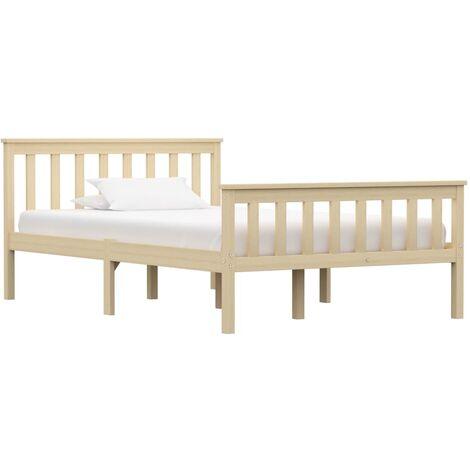 vidaXL Estructura de cama de madera maciza de pino gris 100x200 cm - Grigio