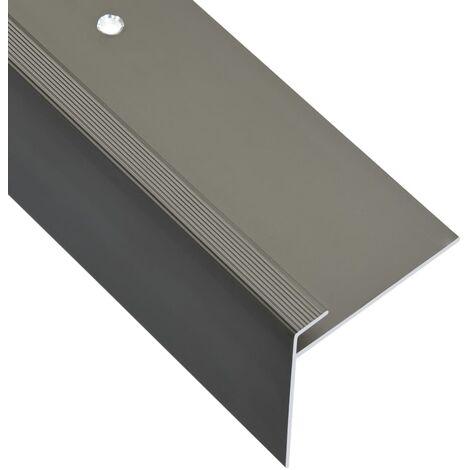 """main image of """"vidaXL F-shape Stair Nosings 15 pcs Aluminium 90 cm Gold - Gold"""""""