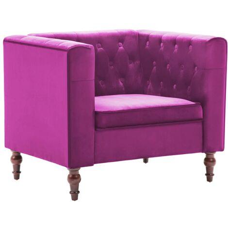 vidaXL Fauteuil avec Revêtement Velours Canapé à 1 Place de Salon Fauteuil Moderne de Salon Sofa 1 Place d'Intérieur Moderne Multicolore
