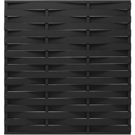 vidaXL Fence Panel WPC 170x180 cm Black - Black
