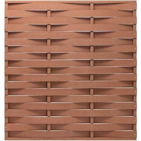 vidaXL Fence Panel WPC 170x180 cm Brown - Brown