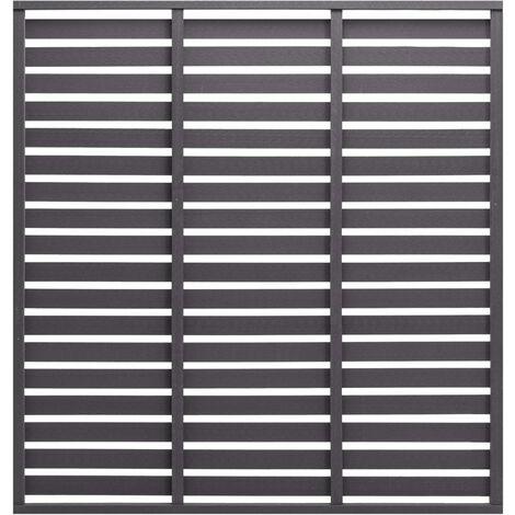 vidaXL Fence Panel WPC 170x180 cm Grey - Grey