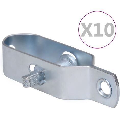 vidaXL Fence Wire Tensioners 10 pcs 100 mm Steel Silver - Silver