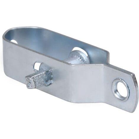 vidaXL Fence Wire Tensioners 10 pcs 90 mm Steel Silver - Silver
