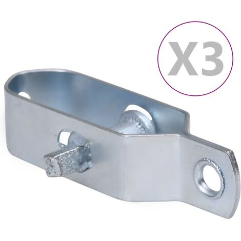 vidaXL Fence Wire Tensioners 3 pcs 100 mm Steel Silver - Silver
