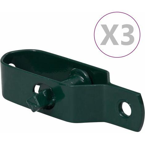 vidaXL Fence Wire Tensioners 3 pcs 90 mm Steel Green - Green
