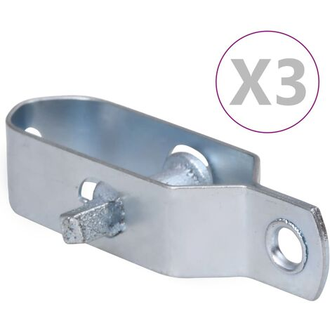 vidaXL Fence Wire Tensioners 3 pcs 90 mm Steel Silver - Silver