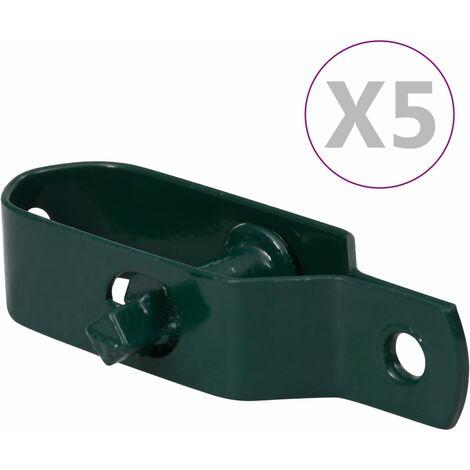 vidaXL Fence Wire Tensioners 5 pcs 100 mm Steel Green - Green