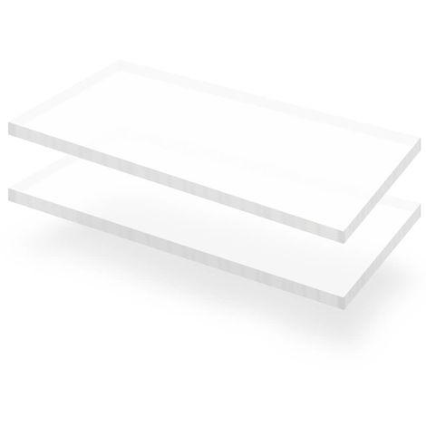 vidaXL Feuille de verre acrylique transparent 2 pcs 60 x 120 cm 15 mm