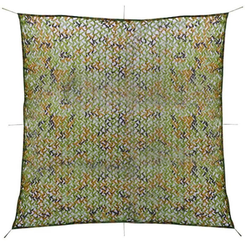 Vidaxl - Filet de camouflage avec sac de rangement 3 x 3 m