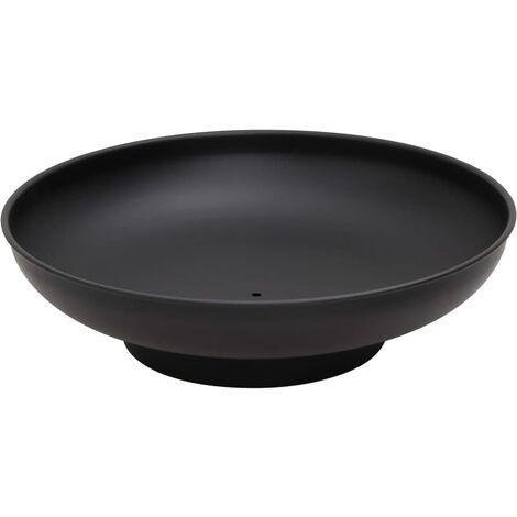 vidaXL Fire Pit 59 cm Steel - Black