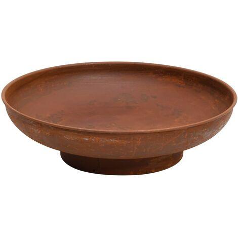 vidaXL Fire Pit 59 cm Steel - Brown