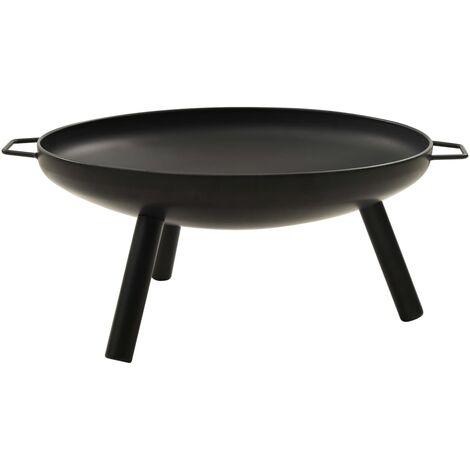 vidaXL Fire Pit 70x59x28 cm Steel - Black