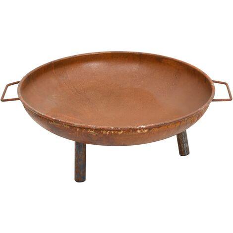 vidaXL Fire Pit 70x59x28 cm Steel - Brown