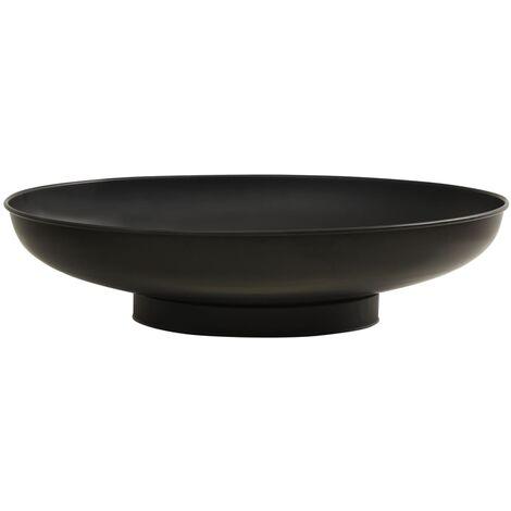 vidaXL Fire Pit 80 cm Steel - Black