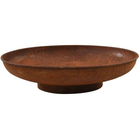 vidaXL Fire Pit 80 cm Steel - Brown