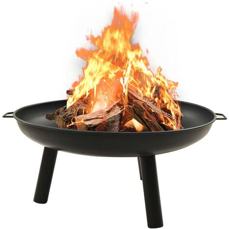 vidaXL Fire Pit 91x81.5x40 cm Steel - Black