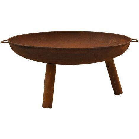 vidaXL Fire Pit 91x81.5x40 cm Steel - Brown