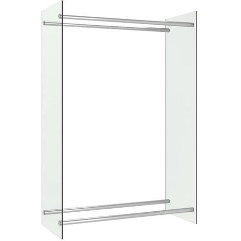 vidaXL Firewood Rack Transparent 80x35x120 cm Glass - Transparent