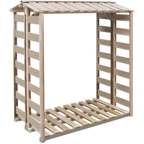 vidaXL Firewood Storage Shed 150x90x176 cm Impregnated Pinewood - Brown