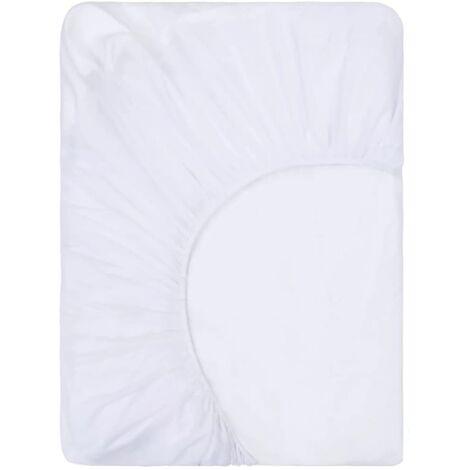 vidaXL Fitted Sheets Waterproof 2 pcs Cotton 100x200 cm White - White