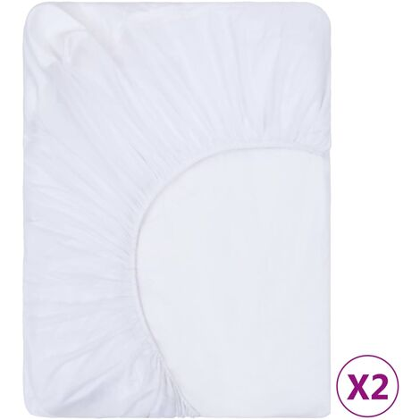 vidaXL Fitted Sheets Waterproof 2 pcs Cotton 60x120 cm White - White
