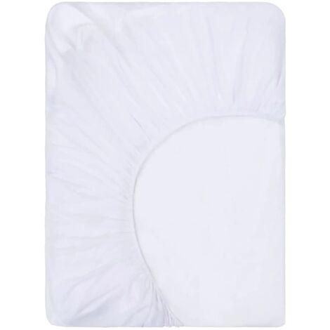 vidaXL Fitted Sheets Waterproof 2 pcs Cotton 70x140 cm White - White