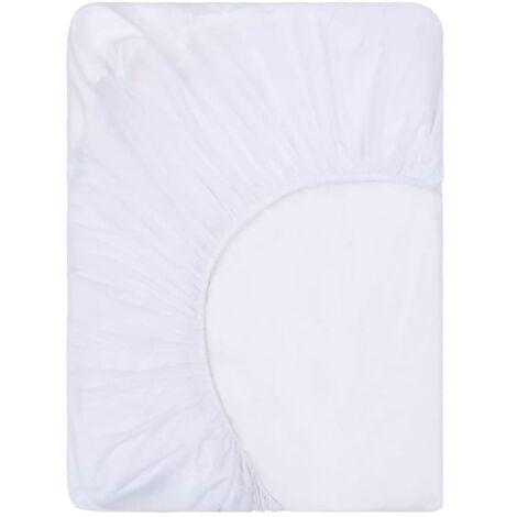 vidaXL Fitted Sheets Waterproof 2 pcs Cotton 90x200 cm White - White