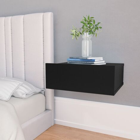 vidaXL Floating Nightstand Durable Wall-Mounted Bedside Side Table Storage Cabinet Wall Shelf With Drawer Chipboard Multi Colours/Quantities
