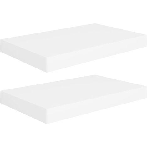 vidaXL Floating Wall Shelves MDF 2 pcs White 40x23x3.8 cm - White