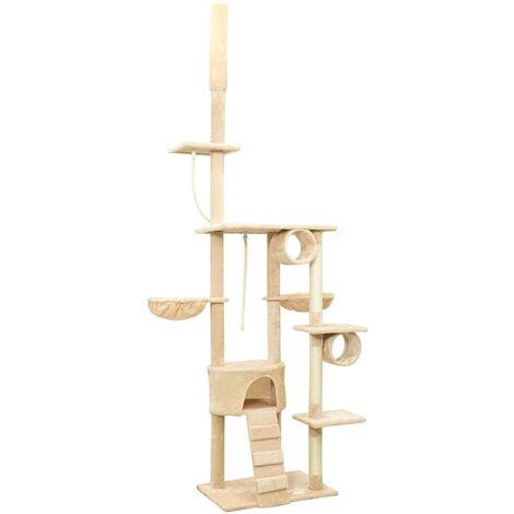 """main image of """"vidaXL Floor to Ceiling Cat Tree Beige 220-240 cm - Beige"""""""