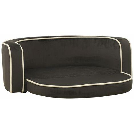 """main image of """"vidaXL Foldable Dog Sofa Dark Grey 73x67x26 cm Plush Washable Cushion - Grey"""""""