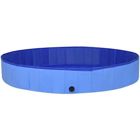 vidaXL Foldable Dog Swimming Pool Blue 300x40 cm PVC