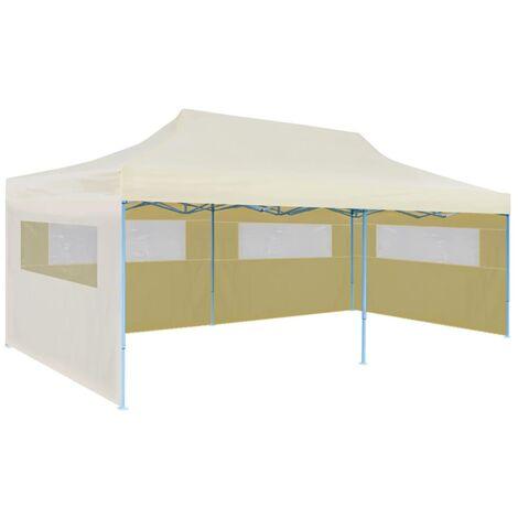 "main image of ""vidaXL Cream Foldable Pop-up Party Tent 3 x 6 m - Cream"""