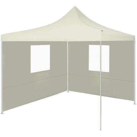 vidaXL Foldable Tent with 2 Walls 3x3 m Cream - Cream