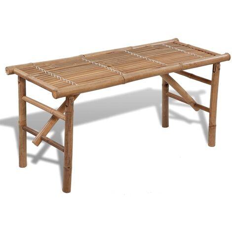 "main image of ""vidaXL Folding Garden Bench 118 cm Bamboo - Brown"""