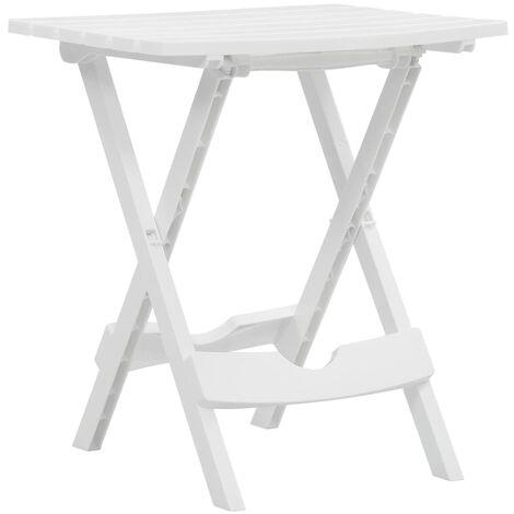 vidaXL Folding Garden Table 45.5x38.5x50 cm White - White