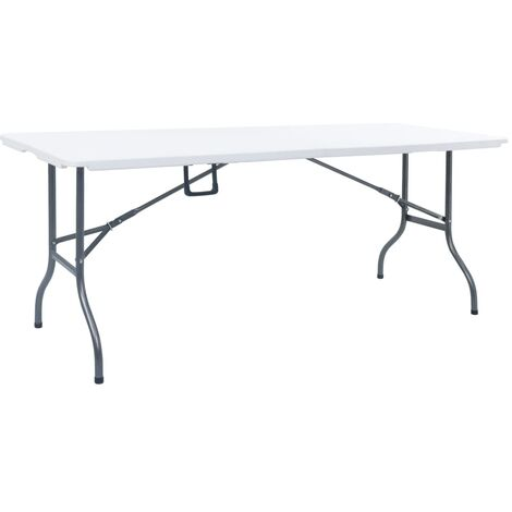 vidaXL Folding Garden Table White 180x72x72 cm HDPE - White