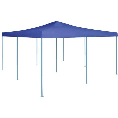 vidaXL Folding Gazebo 5x5 m Blue - Blue