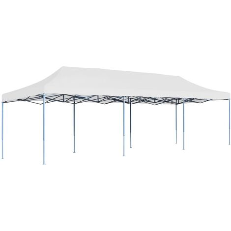 vidaXL Folding Pop-up Party Tent 3x9 m White - White